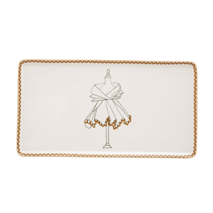 L'atelier Dress Rectangular Plate - 27.8 x 15.1 cm - TC 4713 012