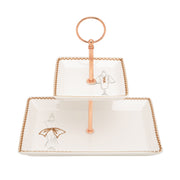 L'atelier Dress 2 Levels Square Plate with Holder - TC 4713 015