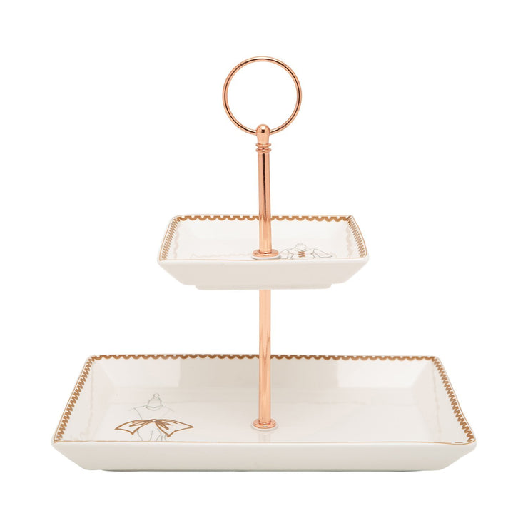 L'atelier FB Dress 2 Levels Square Plate with Holder - TC 4713 015