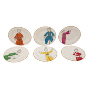 L'atelier Party Coupe Shape Round Cookies Plate Set - 16 cm, 6 Pieces - TC 4714 010