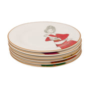 L'atelier FB Party Coupe Shape Round Cookies Plate Set - 16 cm, 6 Pieces - TC 4714 010