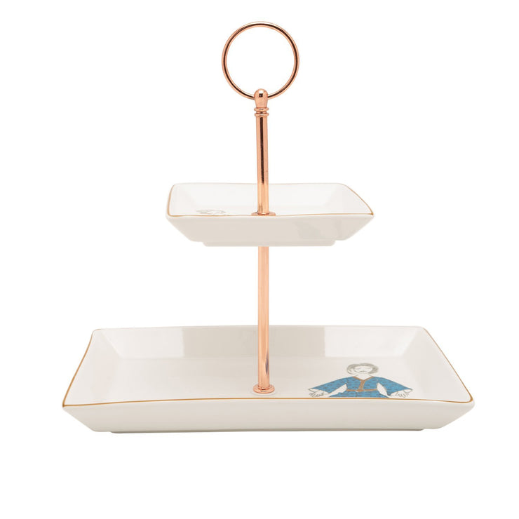 L'atelier FB Party 2 Levels Square Plate with Holder - TC 4714 015