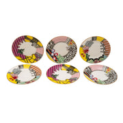 L'atelier Design Coupe Shape Round Cookies Plate Set - 16 cm, 6 Pieces - TC 4719 010