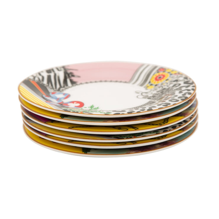 L'atelier FB Design Coupe Shape Round Cookies Plate Set - 16 cm, 6 Pieces - TC 4719 010