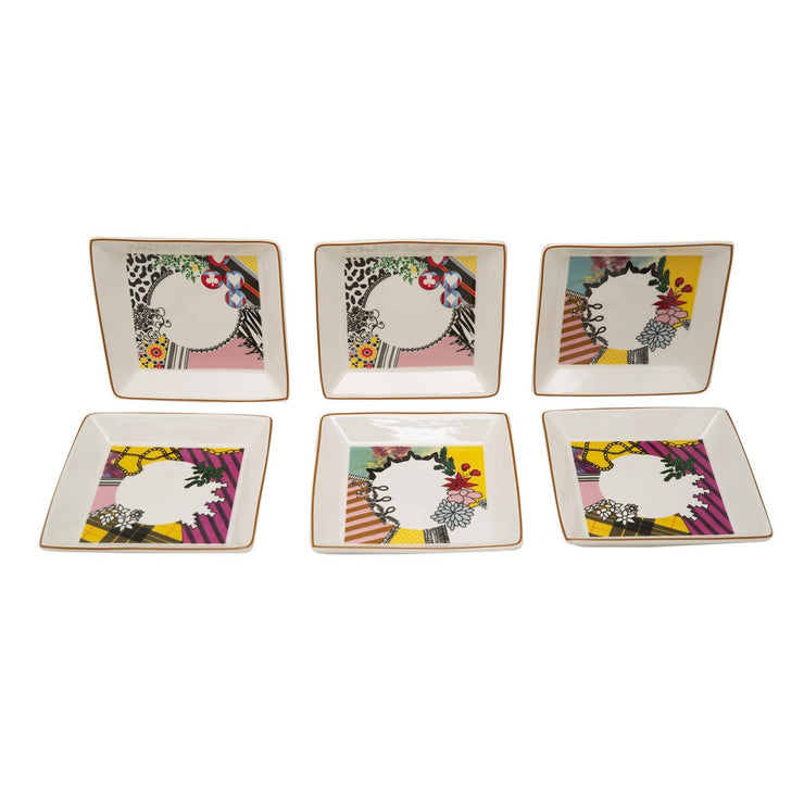 L'atelier Design Square Plate Set - 11.4 x 11.4 cm, 6 Pieces - TC 4719 014