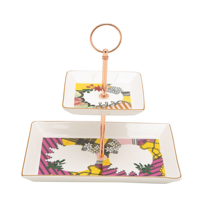 L'atelier Design 2 Levels Square Plate with Holder - TC 4719 015