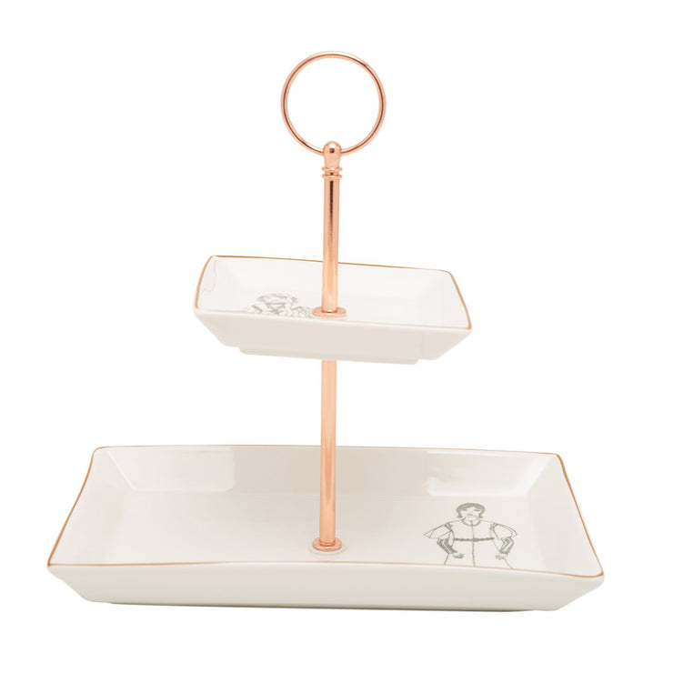 L'atelier FB Zaman 2 Levels Square Plate with Holder - TC 4712 015