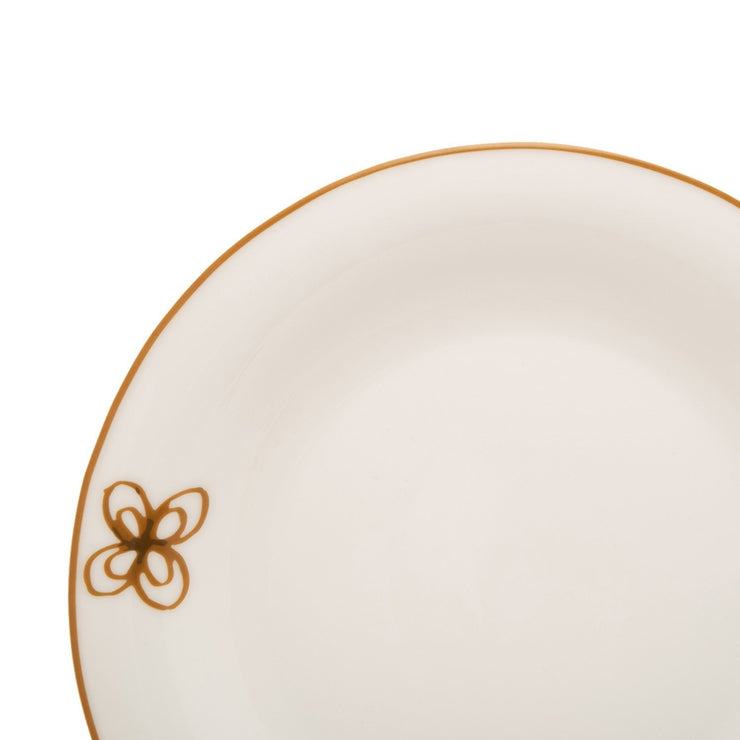 L'atelier FB Embroidery Coupe Shape Dinner Plate Set - 26.5 x 26.5 cm, 6 Pieces - TC 4715 010