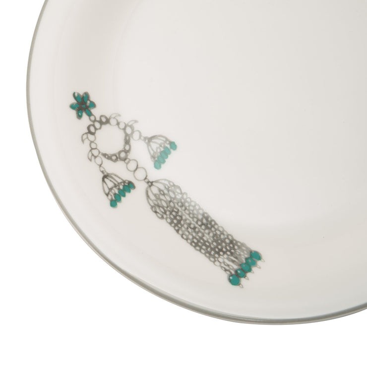 L'atelier FB Emerald Coupe Shape Salad Plate Set - 23 x 23 cm, 6 Pieces - TC 4711 011