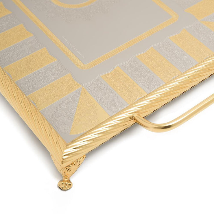 Brignani Alexie 1 Rectangle Tray - Gold, 45 x 33 cm - 1300/2ALEX1-G - Jashanmal Home