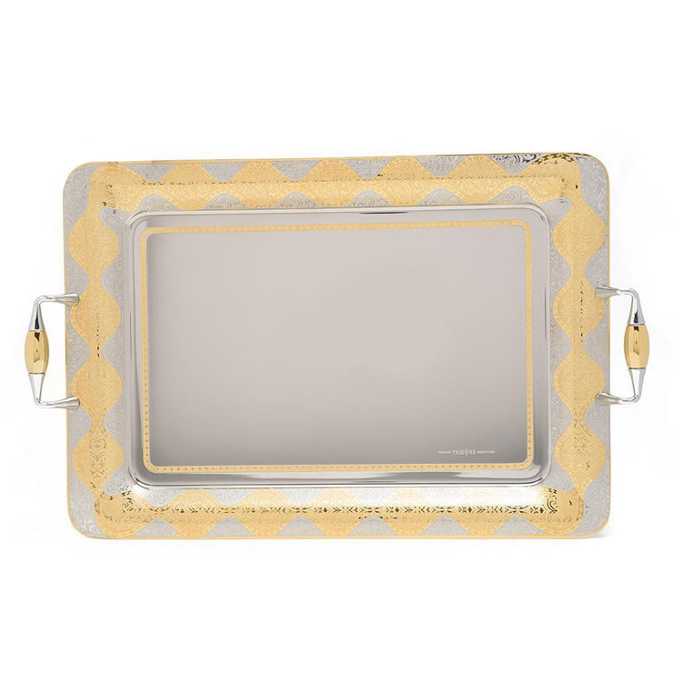 Brignani Jules Rectangle Tray - Gold, 57 x 42.5 cm - RO-1400/5/JUL-G - Jashanmal Home
