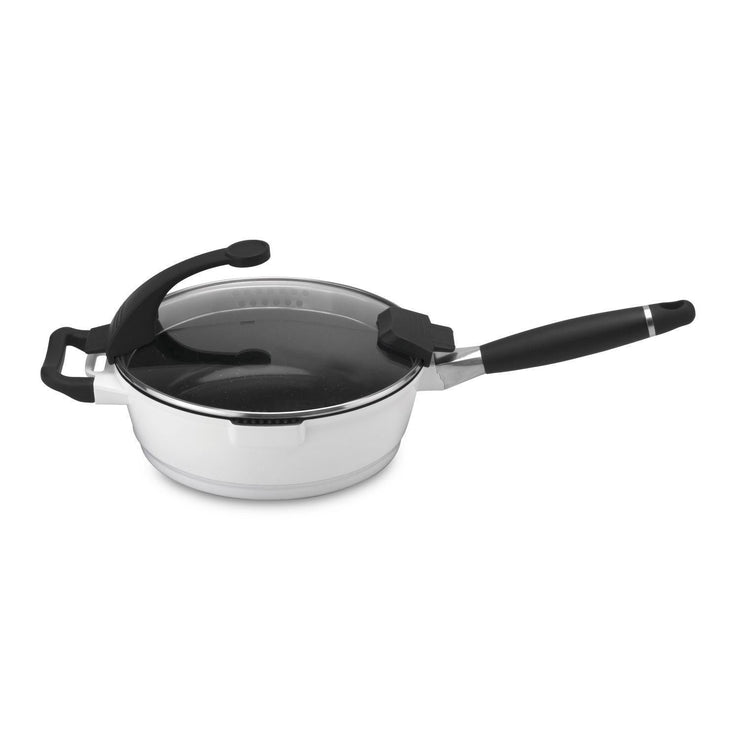Berghoff Virgo Deep Skillet with Cover - White, 24 cm - 2304549