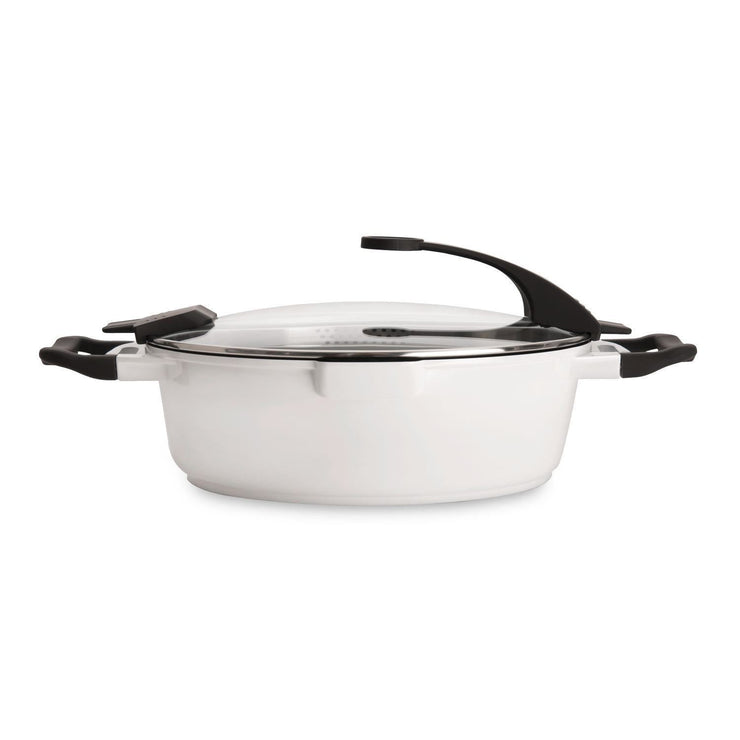 Berghoff Virgo 2-Handle Deep Skillet with Cover - White, 28 cm - 2304919 - Jashanmal Home