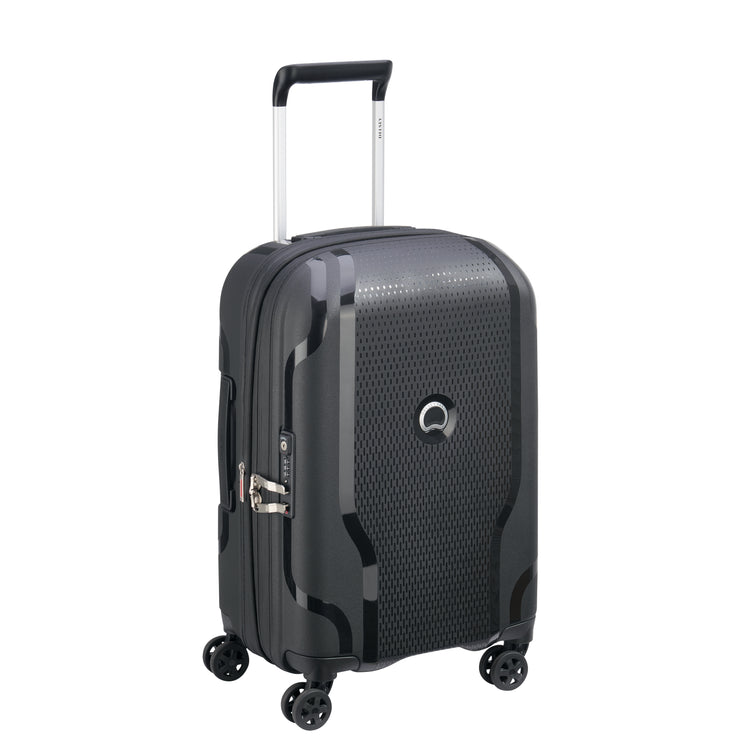 Delsey Clavel Expandable Cabin Luggage Trolley Bag - Black, 55 cm - 00384580100  BLACK