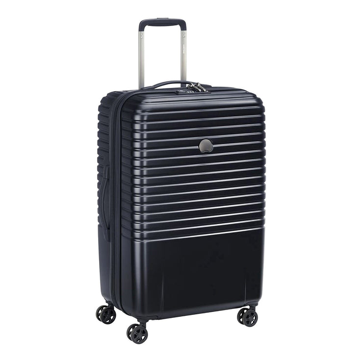 Delsey Caumartin Plus 4 Double Wheel Cabin Trolley Case - Black - 00207882000 BLACK - Jashanmal Home