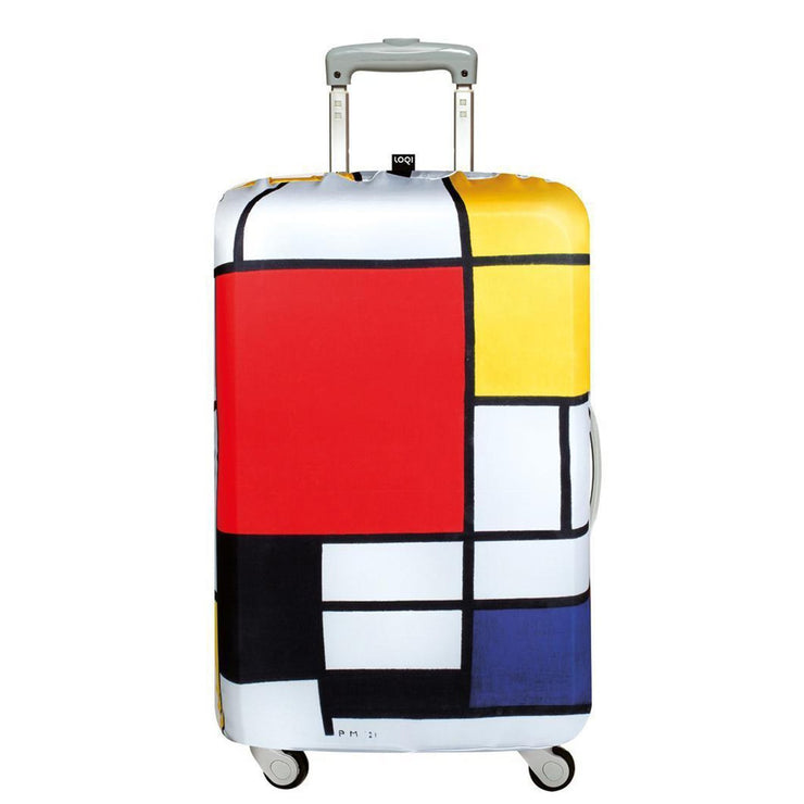 Loqi Museum Piet Mondrian Composition Luggage Cover - Multicolour, Small - LS PM CO - Jashanmal Home