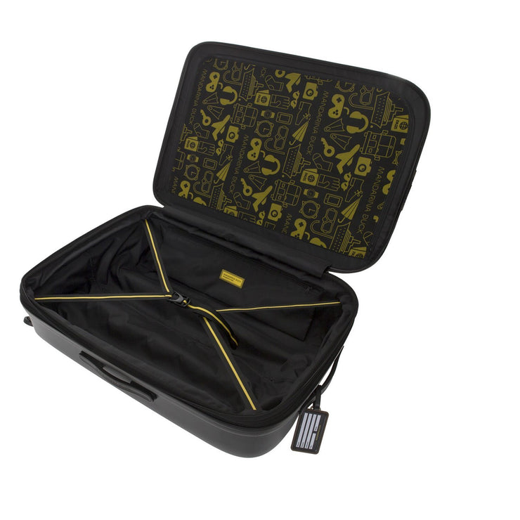 Mandarina Duck Logoduck Expandable Cabin Trolley Bag - Black - P10SZV33651 - Jashanmal Home