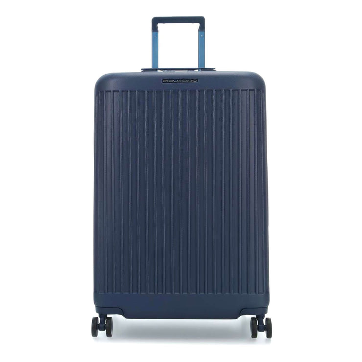 Piquadro Seeker Hardside Spinner Trolley Bag - Blue - BV4427SK/BLU