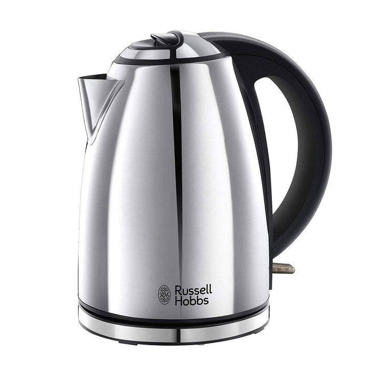 Russell Hobbs Henley Polished Silver Kettle - 23601 - Jashanmal Home