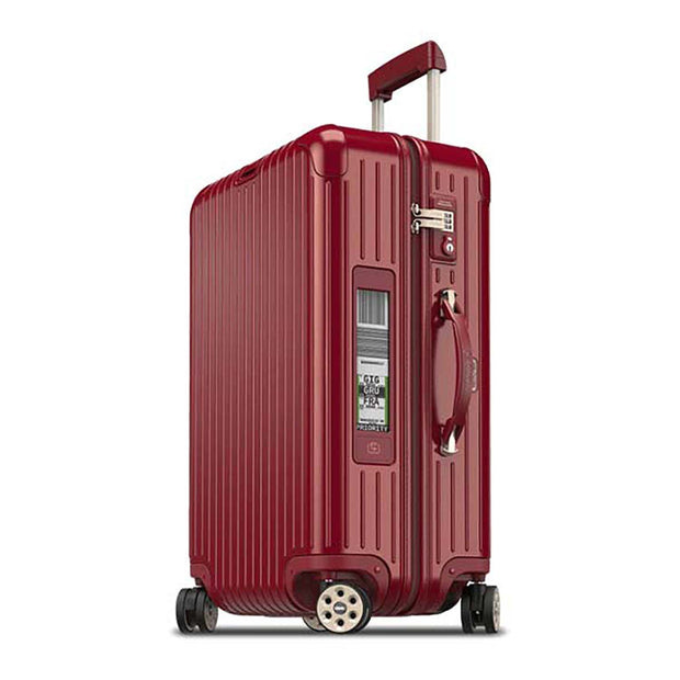 Rimowa Salsa Deluxe Electronic Tag Luggage Trolley Bag - Red Oriental - 831.63.53.5 RED - Jashanmal Home