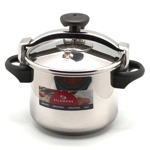 Silampos Pressure Cooker with Basket - Silver, 6L - 641122018660B - Jashanmal Home
