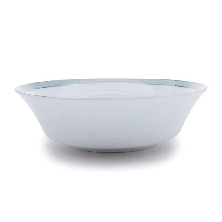 Dankotuwa Bella Salad Bowl - White and Blue, Large - BELLAB-0509 - Jashanmal Home