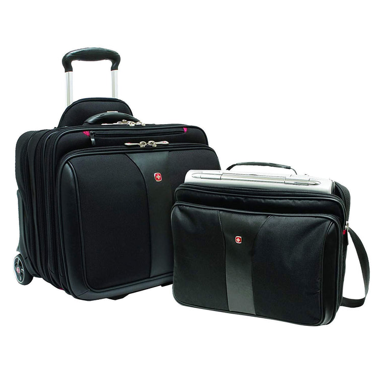 Wenger Patriot Rolling 2 Piece Business Trolley Bag Set - Black - 600662 - Jashanmal Home
