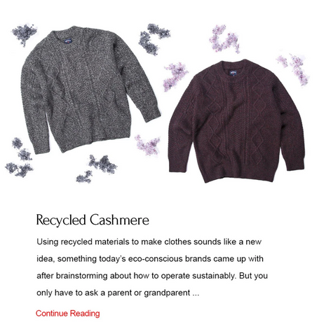 Image of recycled cashmere sweaters