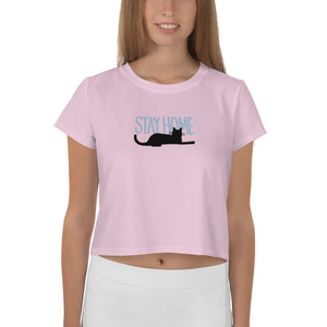 Cat Knows Best Crop Tee