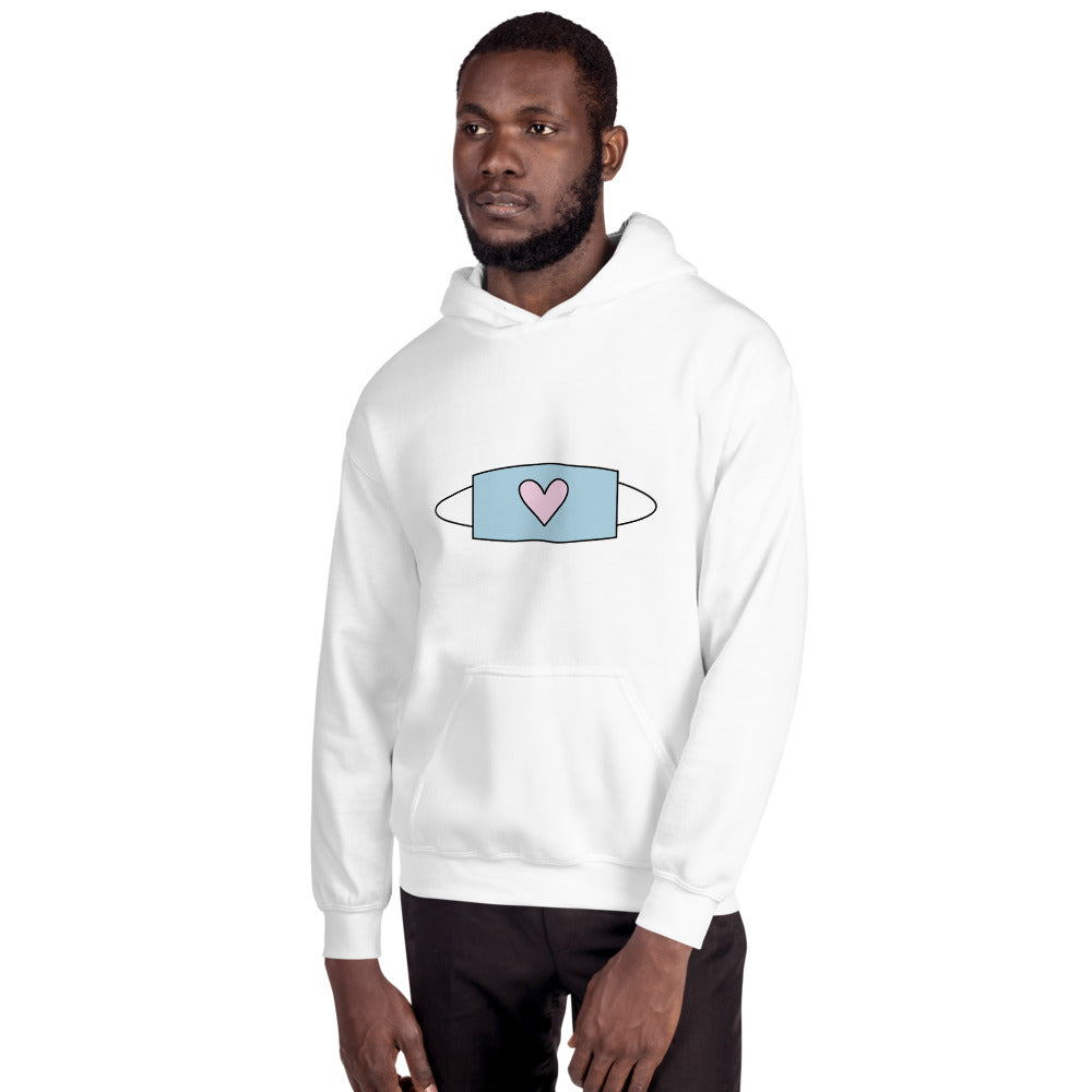 Heart FaceMask Hoodie