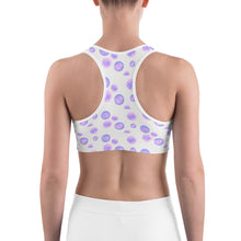 Load image into Gallery viewer, Polka Dot Doodle Sports Bra