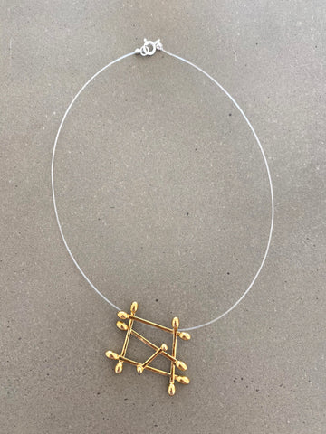 Clarity Necklace in brass
