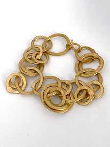 Evolution bracelet in brass