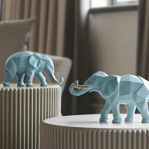 Sahara Elephant Statue Set - Bargainzar Boho Home Decor Online
