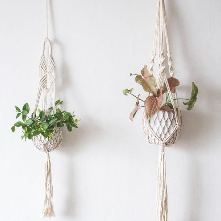 Macrame Wall Pot Holder - Bargainzar Boho Home Decor Online