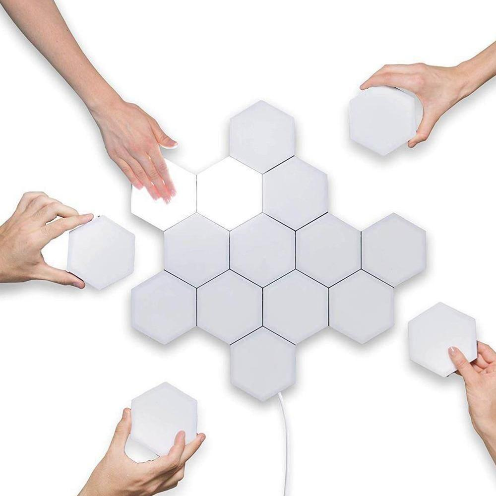 Lightsvibe™ Quantum hexagonal LED Touch Lamp