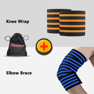 ROEGADYN Professional Weightlifting 2m Elastic Knee Wrap