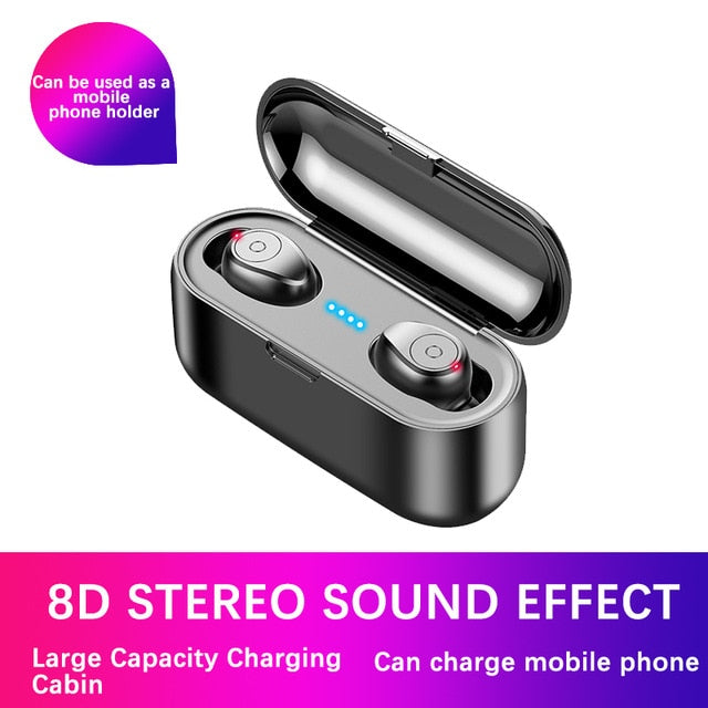 TWS Bluetooth Earphones 5.0 Wireless Headphones