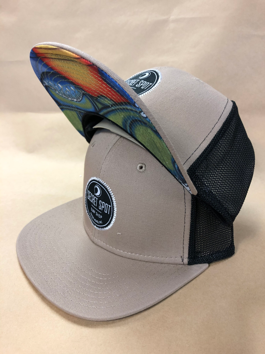 Embroidered Logo Flat Brim Hat with Shop Mural