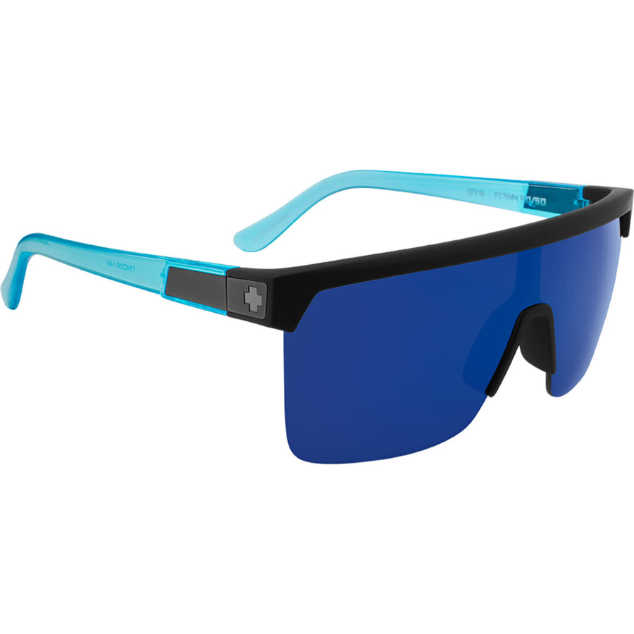 Flynn 5050 Soft Matte Black Translucent Blue - HD Plus Gray Green with Dark Blue Spectra Mirror