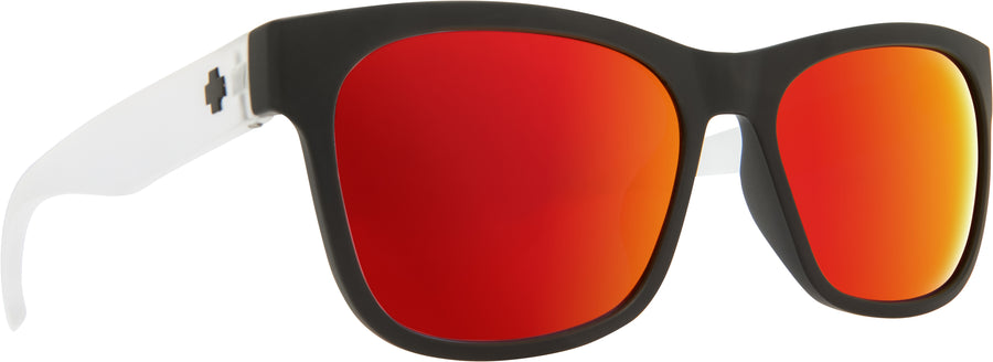 Sundowner Matte Black/Matte Crystal - Gray W/Red Spectra