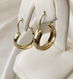 Load image into Gallery viewer, 14K Gold Teardrop Hoops