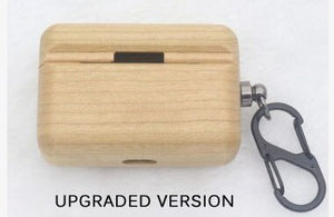 For AirPods Pro Hard Case Protective Solid wood
