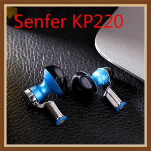 Senfer KP220 Semi Acoustic Dynamic HIFI Music Monitor DJ Studio Sports Interchangeable Earbuds Earphone MMCX Cable  Airpods