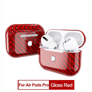 CENMASO Real Carbon Fiber Bluetooth Headset Wireless Earphone Protective Cover for APPLE AirPods 3 Pro 2019 Air Pods 2 1 Case