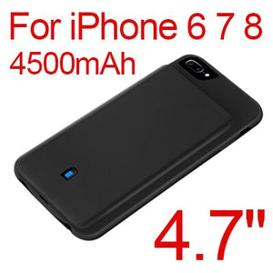 Phone Battery Charging Case For iPhone 6 6S 7 8