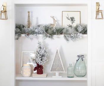 Simple Holiday Decorating Ideas with Old Time Pottery