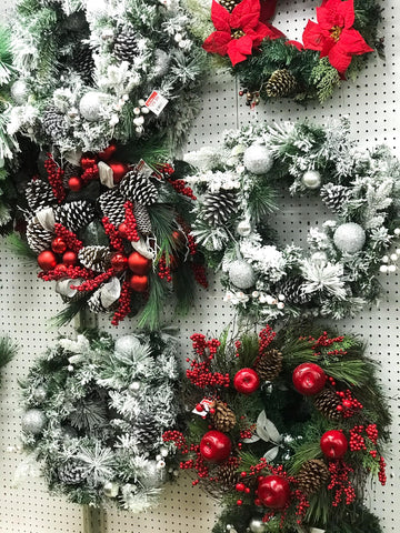 holiday wreath, faux floral