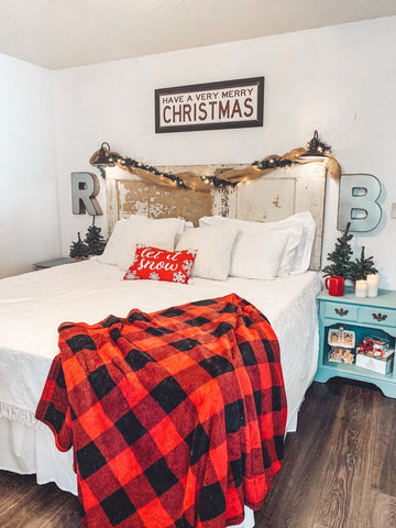 cozy bedroom decorations, Christmas decor ideas