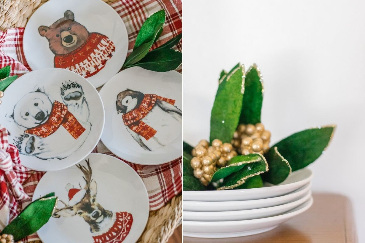 holiday gifting, christmas, plates